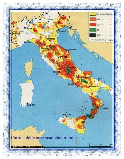 Cartina Italia Con Vulcani.I Siti Vulcanici